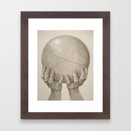 The World in Your Hands Framed Art Print