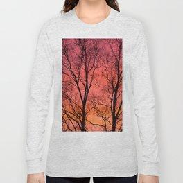 Tree Silhouttes Against The Sunset Sky #decor #society6 #homedecor Long Sleeve T-shirt