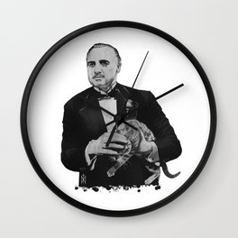 The Godfather with a cat  Wall Clock