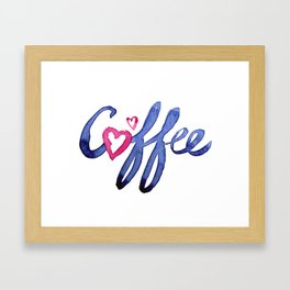 Coffee Lover Typography Framed Art Print