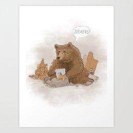 The teddy bear myth: busted Art Print