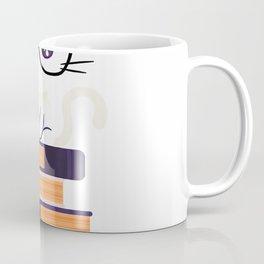 Funny Cat Book Lover T Shirt Nerd English Teacher Librarian Coffee Mug