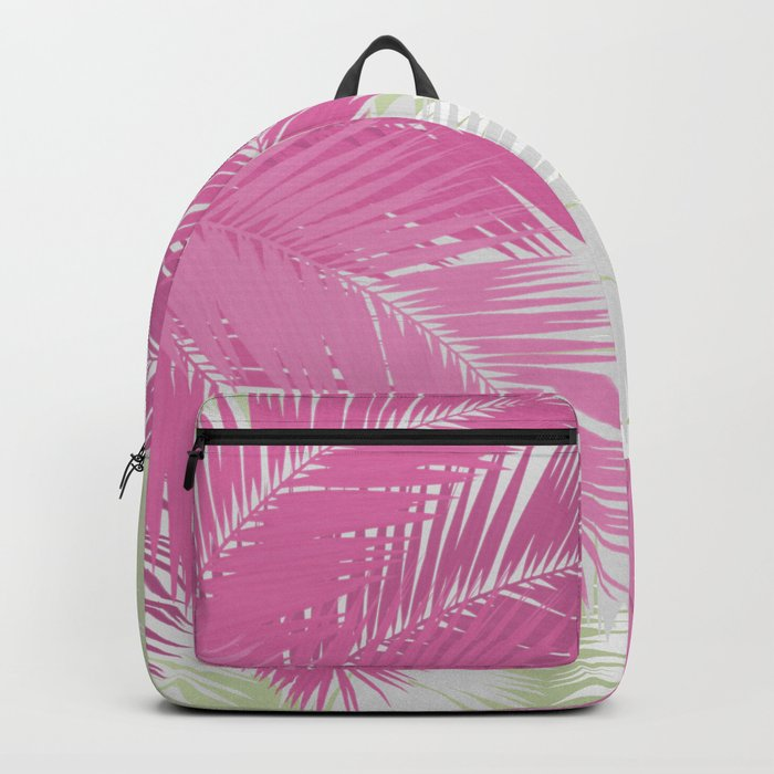 PINK TROPICAL PALM TREES Backpack