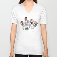 thanksgiving V-neck T-shirts featuring A Max Fischer Thanksgiving by JessLane