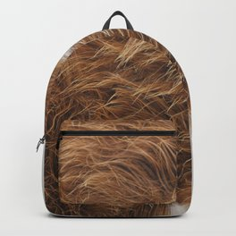 Modern hairy cow hide brown and white Backpack