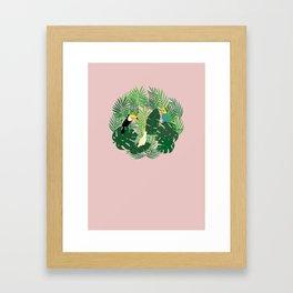 Jungle pink circle Framed Art Print