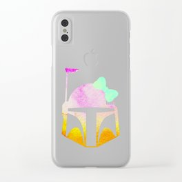Star Wars Boba Fett and Bow 2 Clear iPhone Case