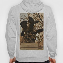 Eagles and Prey Sculpture in NYC Central Park Hoody