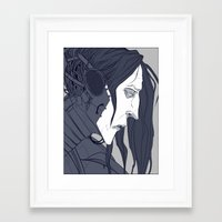 cage Framed Art Prints featuring CAGE by AJM_