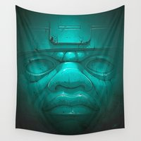 obey Wall Tapestries featuring Olmeca III. by Dr. Lukas Brezak