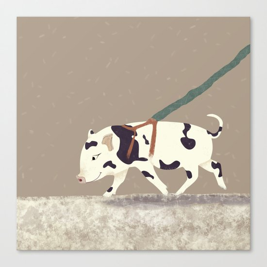Baby Pig Original Design Canvas Print