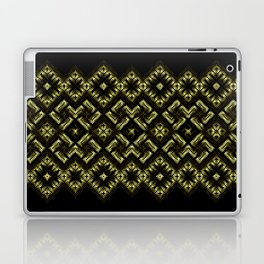 Fiery ancient ornament. Old Nordic embroidery in a psychedelic modern style Laptop & iPad Skin