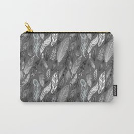 Falling Feathers on a Grey Day Carry-All Pouch