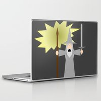 gandalf Laptop & iPad Skins featuring Gandalf- You Shall Not Pass by Robin Stevens