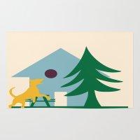 beagle Area & Throw Rugs featuring Beagle by BruxaMagica