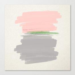 grey + pink + green Canvas Print