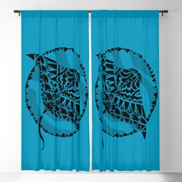 Manta Ray Tribal Print Blackout Curtain