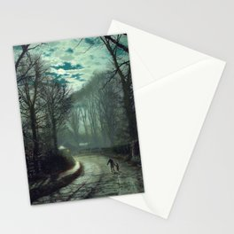 John Atkinson Grimshaw - Nearing Home - Victorian Retro Vintage Painting Stationery Cards