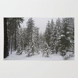 Snowy  Landscape Rug