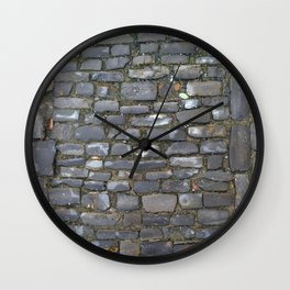 Cobblestone Wall Clock