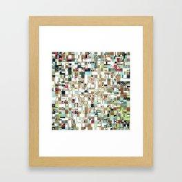 Geometric Textured Jumble Framed Art Print