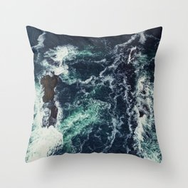 Shoals Awash Throw Pillow