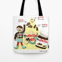 nutella Tote Bags featuring I {❤} NUTELLA by lilycious
