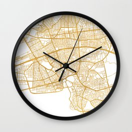 ANTALYA TURKEY CITY STREET MAP ART Wall Clock