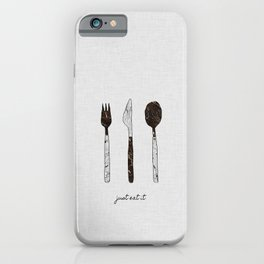Just Eat It, Music Quote iPhone Case