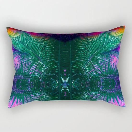 funky Palm Rectangular Pillow