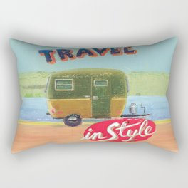 travel in style - by phil art guy Rectangular Pillow