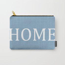 Home word on placid blue background Carry-All Pouch