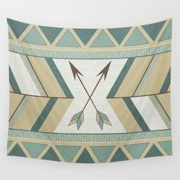 Aztec Pattern Arrows Wall Tapestry