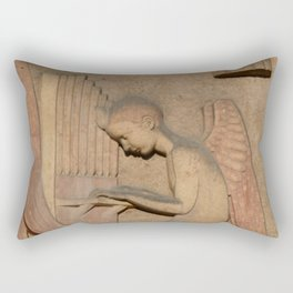 Angel playing organ at the Church of St. Odile Rectangular Pillow