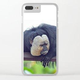 White-Faced Saki Clear iPhone Case