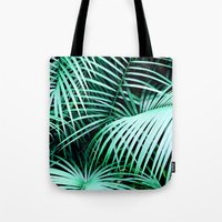 palms Tote Bags featuring Palms by Karen Hofstetter