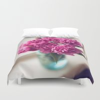 peony Duvet Covers featuring Peony by Jenny Althouse