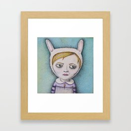 Rabbitgirl Framed Art Print