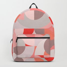 Mid Century Geometry in Retro Candy Colors Backpack