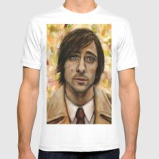 Jason Schwartzman Mens Fitted Tee White MEDIUM