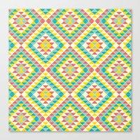southwest Canvas Prints featuring Southwest by Jacqueline Maldonado