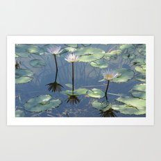 Winter Flowers Art Print