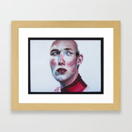 In Red and Blue Framed Art Print