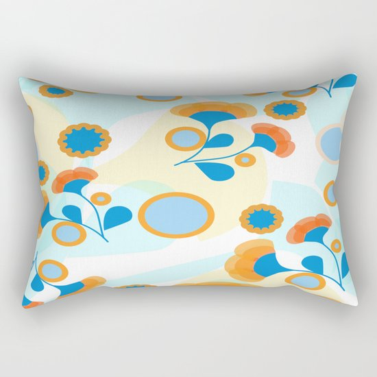 Calendula Pattern Rectangular Pillow