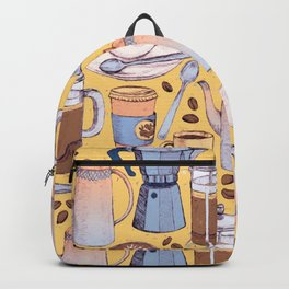 Coffee Love on Yellow Backpack