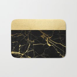 Gold and Black Marble Bath Mat