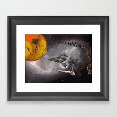 Stealth Bomber Simplified Framed Art Print
