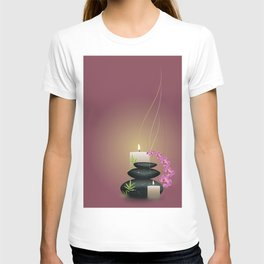 Pebbles with orchid T-shirt