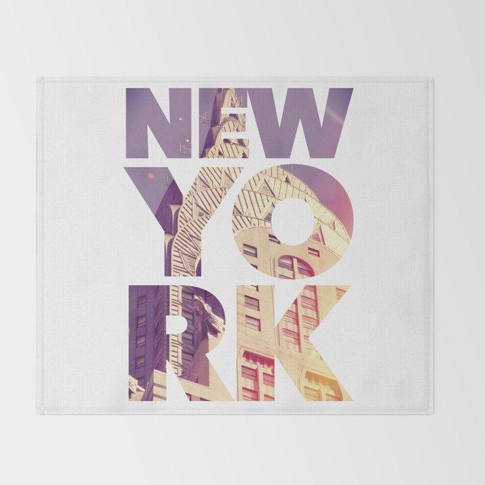 New York New York Throw Blanket