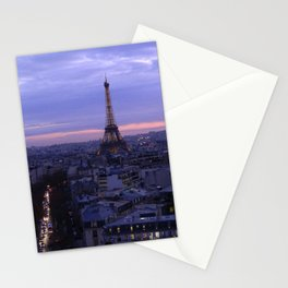 Eiffel Tower Sunset Stationery Cards